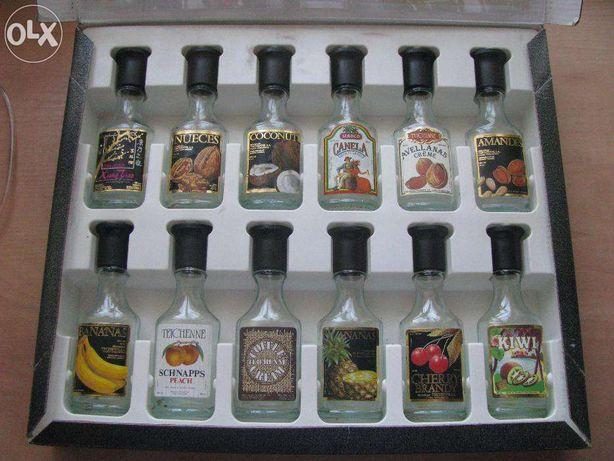 Набор коллекционных бутылочек из-под алкоголя 50 мл