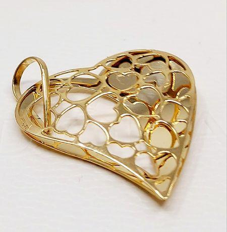 Złoto Złota zawieszka Serce próba 585 waga 2.22 gr
