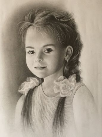 Рисую портрет по фото карандашом