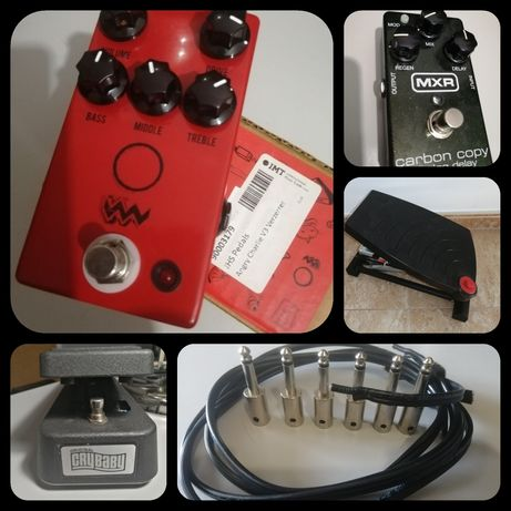 JHS Angry Charlie V3, MXR Carbon copy, George L, Mey Chair, Dunlop wah