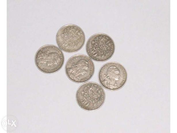 Moeda de 50 centavos, Alpaca, 1951 – 1968