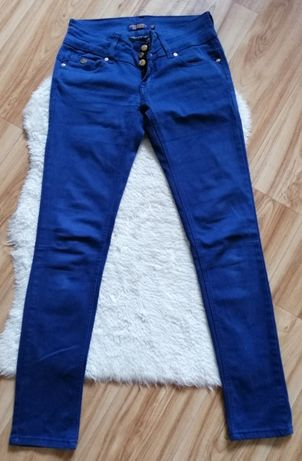 Ciemne spodnie jeansy, rozmiar 36