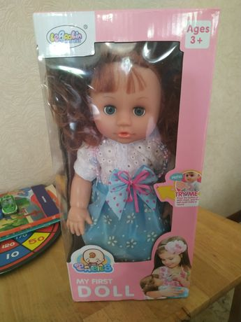 Кукла интерактивная 35см ,говори,писяет,открывает и закрывает глазки