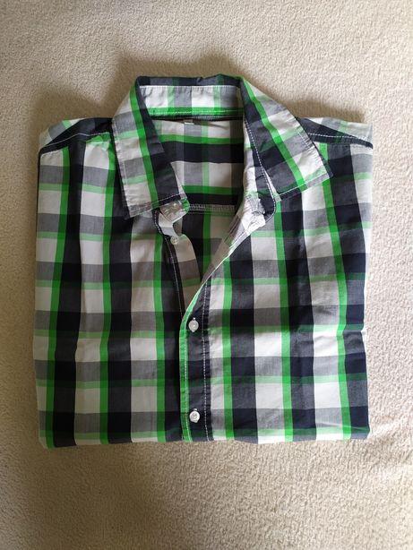 Koszula chłopięca w kratkę, here & there 170/176