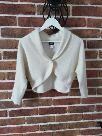 Sweterek/bolerko z angorą H&M
