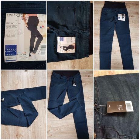Spodnie ,jeansy ciążowe rozm 36 nowe OKAZJA