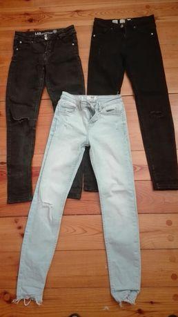 3 pary jeansy rozm. 32/146 Bershka