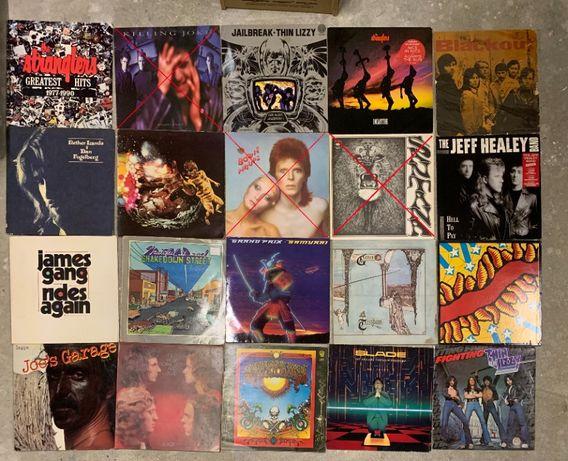 Płyty winylowe m.in. Genesis, Thin Lizzy, Slade, James Gang, Strangler