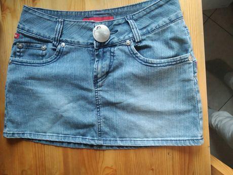 Spódniczka jeansowa, mini r 38