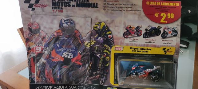 Vendo miniatura Miguel Oliveira com fascículo completo