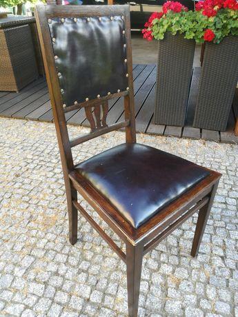 Stare drewniane krzesła komplet 4 sztuki