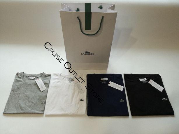 Koszulka Męska T-shirt Lacoste S M L XL XXL! LA222D01Z-802