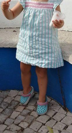Vestido c/Tapa Fralda 18/24meses Zippy