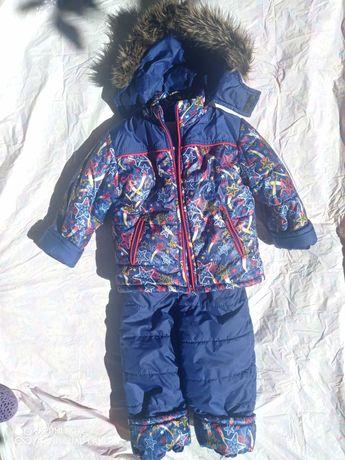Куртка зимняя + комбинезон на мальчика