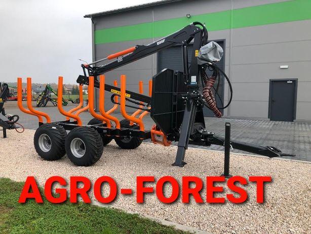Nowa ! Przyczepa Leśna BMF 8t - 6,5m | Pompa, Rozdzielacz | Leasing24h