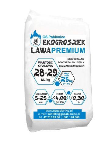 Sprzedam opał ekogroszek Lawa Premium 28MJ/kg darmowa dostawa