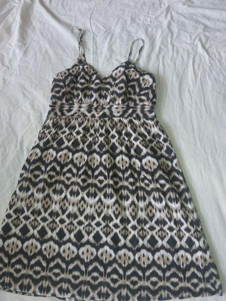 Sukienka na ramiaczka motywy zwierzece rozm 44 moze byc ciążowa