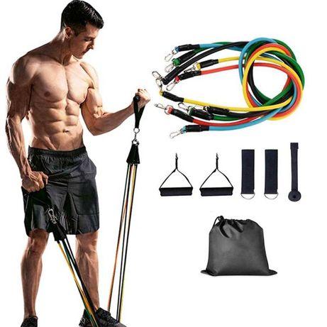 Акция! Набор трубчатых эспандеров для упражнений фитнеса и спорта