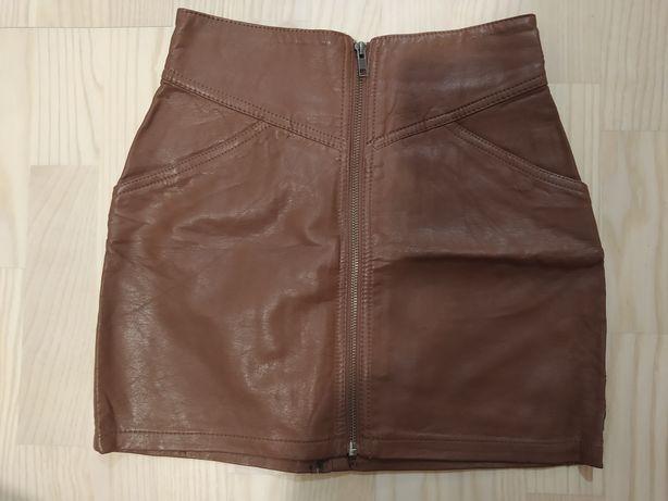 Spódniczka mini skórzana H&M rozmiar 34