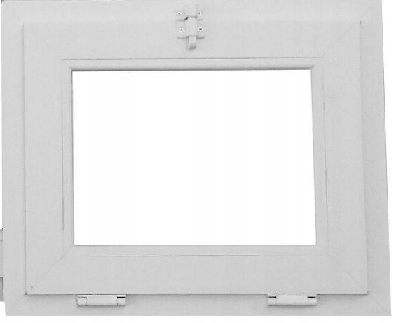Okno pcv uchylne gospodarcze 600x500 mm białe profil 60 mm