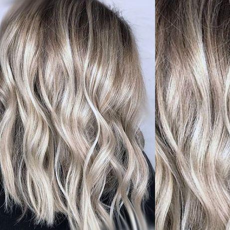 Сложные окрашивания волос. Блонд без желтизны. Балаяж Шатуш Омбре
