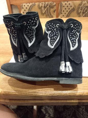 Сапожки-ботинки натуральные демисезонные