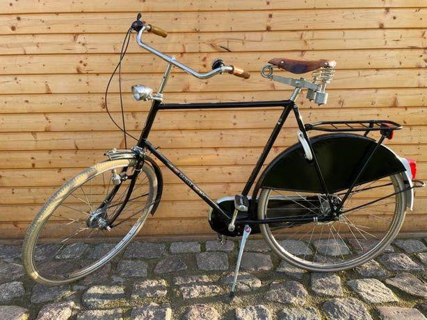 Stylowy zabytkowy rower miejski Gazelle