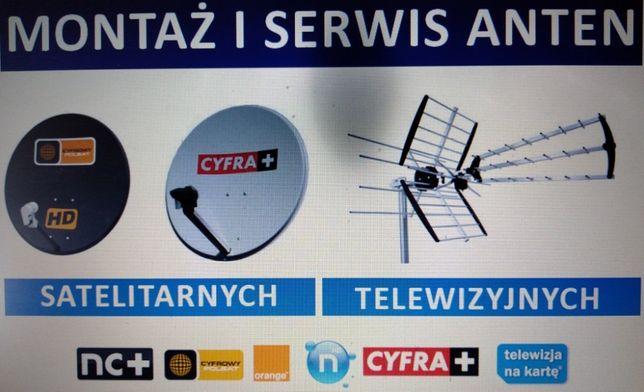 Ustawianie anteny, montaż ustawienie anten satelitarnych i tv dvb-t