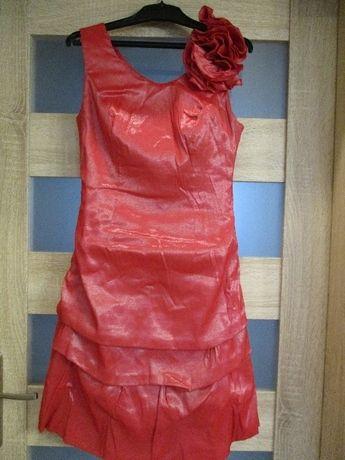 Sukienka 36 czerwona koktajlowa wesele studniówka