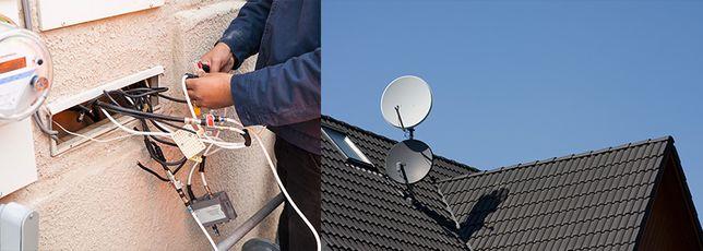 Ustawianie i montaż anten satelitarnych.
