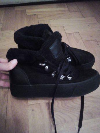 Buty zimowe damskie na platformie 38