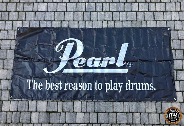 Pearl - duży banner perkusyjny z logo 86 x 185 cm