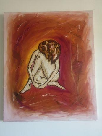 Quadros a óleo pintados à mão