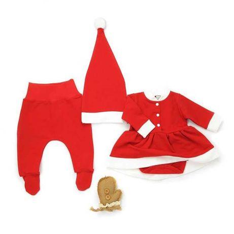 Новорічний костюмчик для дівчинки Міс Санта Клаус