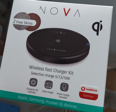 NOVA Carregador Wireless Carga Rápida 10W
