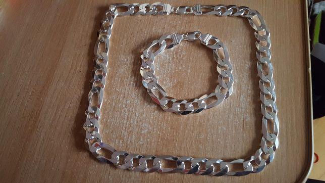srebro lancuszki bransoletki kaplety 925
