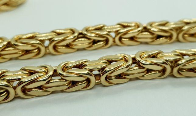 Złoty łańcuch królewski 78,67g 60cm p585 JAK NOWY /STERNA łańcuszek