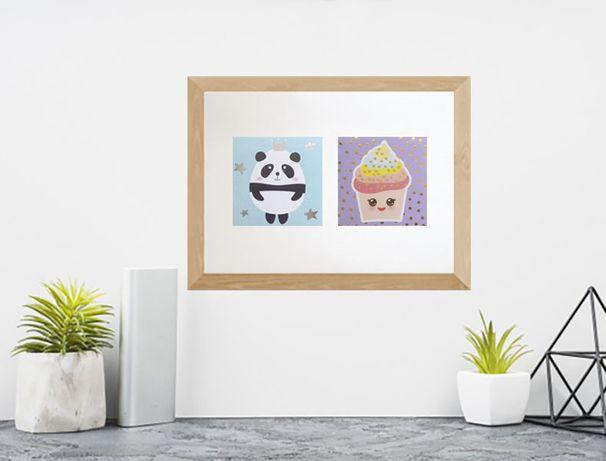 panda plakat na ścianę, ciastko plakat do kuchni, plakat dla dzieci A4