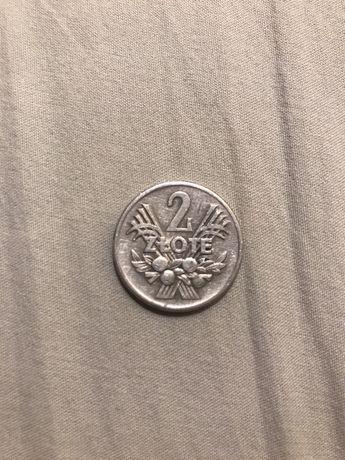 2 злотых ПНР 1958 г.
