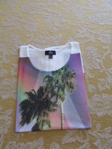 T-shirts com palmeiras marca Mango