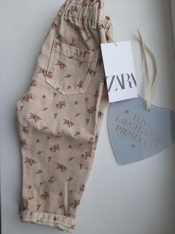 Нові джинси джинсы Zara на девочку 9-12 м,штани штаны Зара детские