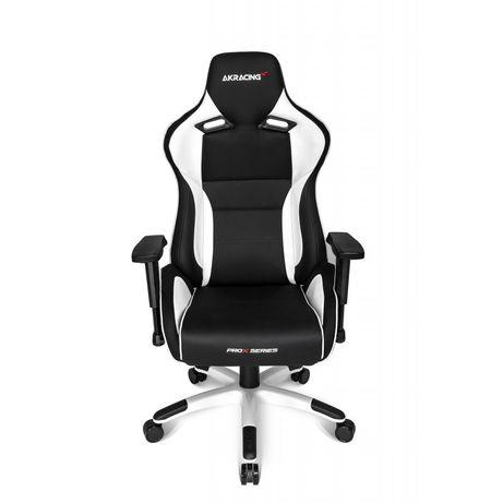 Кресло геймерское Akracing ProX black white