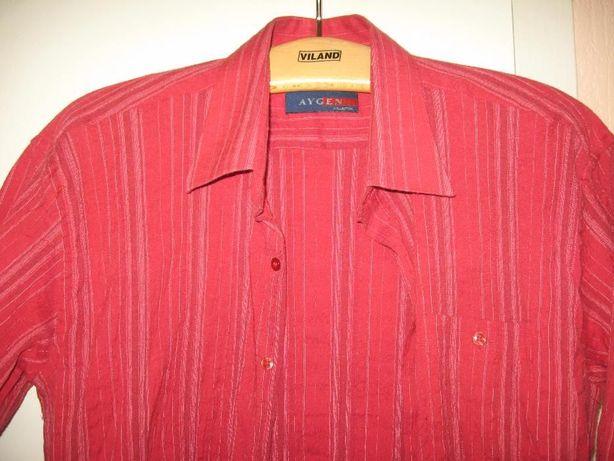 Рубашка мужская с коротким рукавом AYGEN красная
