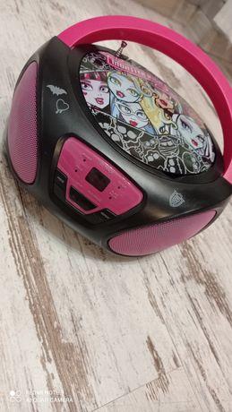 Radio CD boombox dziewczynka Monster High