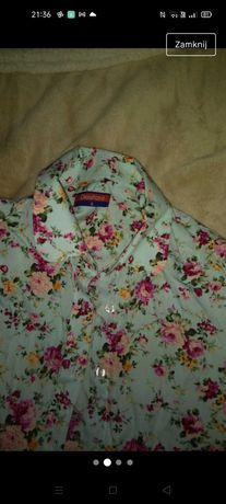 Elegancka koszula w kwiaty, rozmiar S