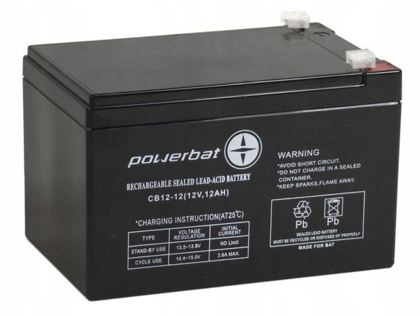 Akumulator żelowy Powerbat Cb 12, 12 12v 12Ah