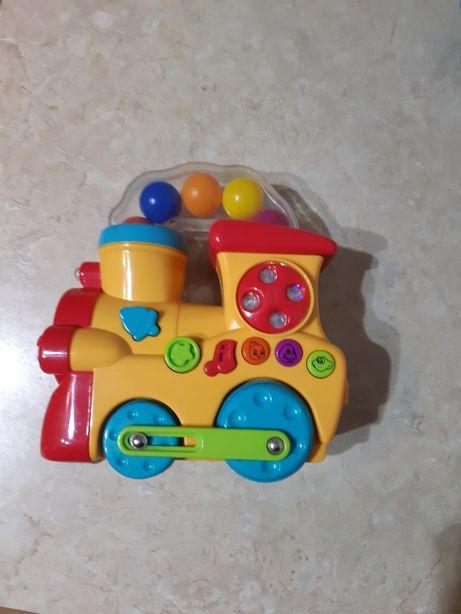 Pociąg ciuchcia jeżdżąca na baterie zabawka