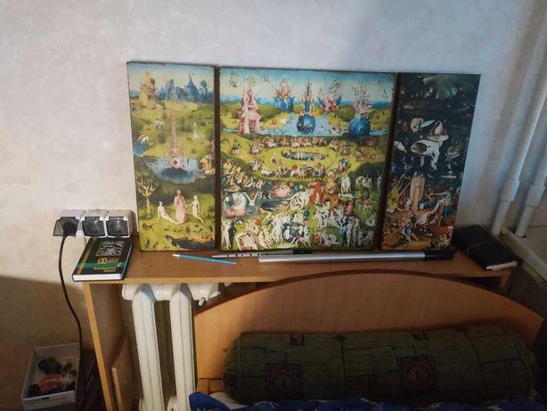 Картина Иероним Босх Сад земных наслажений. Триптих Босха грехопадение