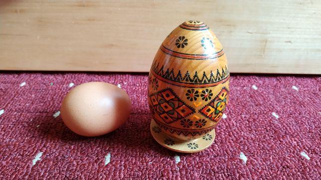 Яйцо деревянное пасхальное дерево на подставке блюдце ручная роспись