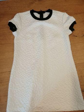 Biała pikowana sukienka ZARA, r.L !!!